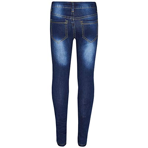 Kids Girls Skinny Jeans Denim Ripped Stretchy Pants Jeggings New Age 3-13 Years 2
