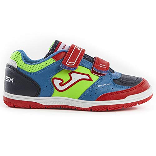 f6dafcaea6c3c Joma Kids Top Flex JR Indoor Soccer Shoes (2 M US Little Kid,  Royal/Red/Fluoro)