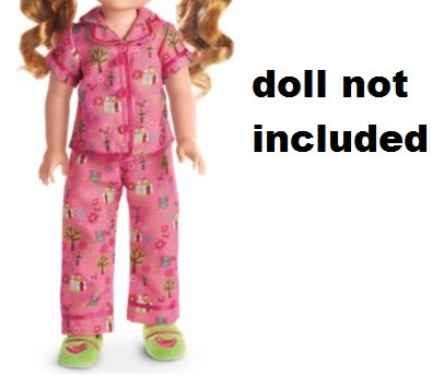 Amazon.com: American Girl Wellie Wishers Enchanted Garden PJs Doll Outfit- PJs and Slippers: Toys & Games