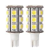 GRV T10 921 194 24-5050 SMD LED Bulb lamp Super Bright Cool White DC 12V Pack of 2