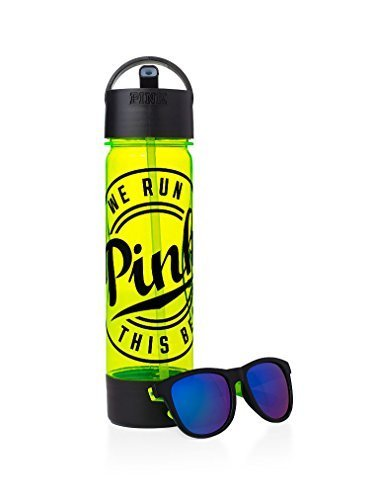 Victoria's Secret PINK Campus Water Bottle & Sunglasses Neon - Sunglasses With Neon Logo