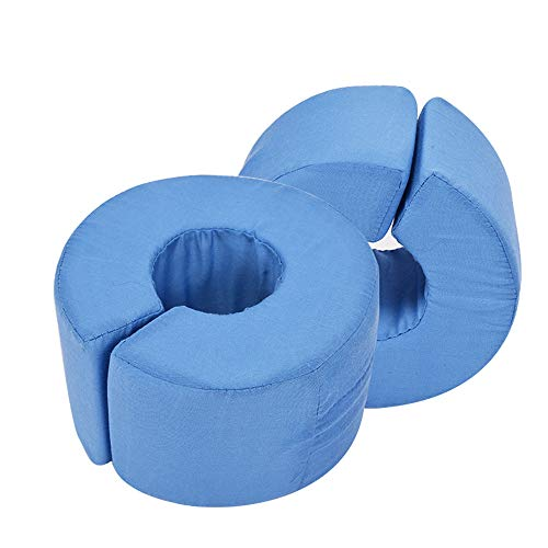 BIHIKI 1 Pair Foot Pillows for Pressure Sores,Foot Foam Elevator,Heel Protection for Soreness and Healing,Foot Elevator Support Pillow,Heel Protector Pillows,Blue