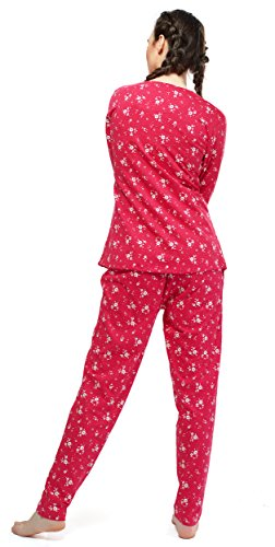 435a6d3156 ZEYO Women s Cotton Red Feeding Night Suit