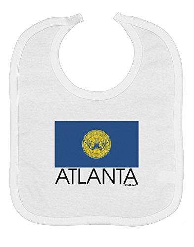 TooLoud Atlanta Georgia Flag Text Baby Bib - White