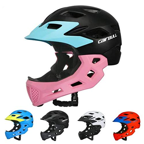 Aiyoyo Kids Bicycle Helmet Full Face Helmet for Bike Motorcycle Children Safety Guard Sports Protective Equipment for Riding Skating ( Blue) by Aiyoyo (Image #5)