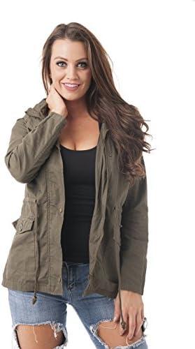 Button Down Hoodie Anorak Utility Jacket