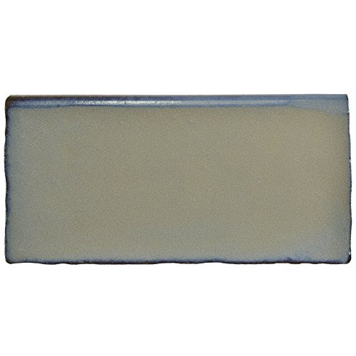 SomerTile WCVASG6B Antigue Special Ceramic Bullnose Wall Trim Tile, 2.875