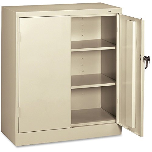 Wide Counter High Cabinet (Tennsco 4218 24 Gauge Steel Standard Welded Counter High Cabinet, 2 Shelves, 150 lbs Capacity per Shelf, 36