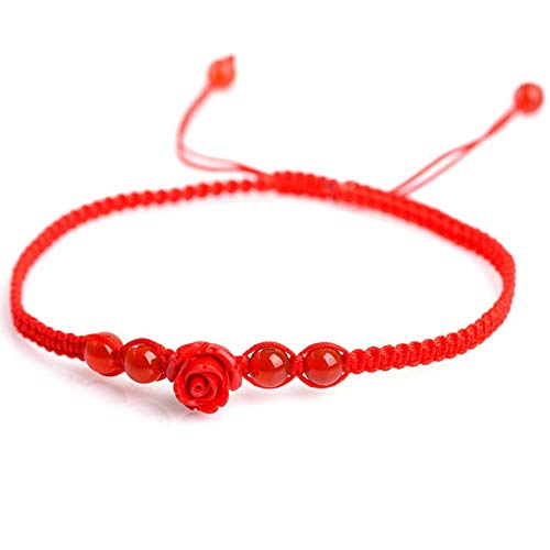 TomSunlight Braided Red String Anklet