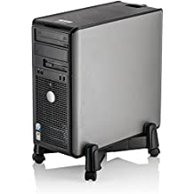 Halter LZ-401 PC Computer Stand Case Caddy for Desktop / Tower Cases with Adjustable Width and 4 Caster Rolling Wheels