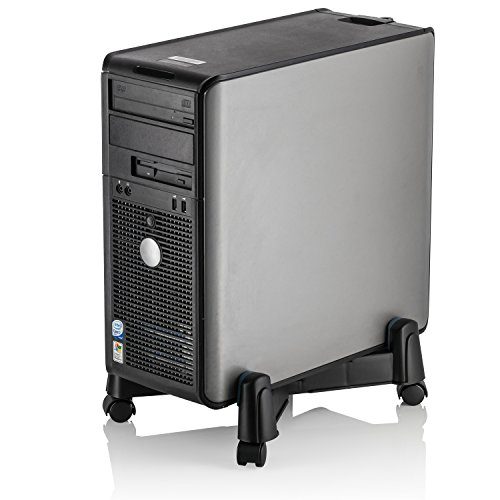 Halter LZ-401 PC Computer Stand Case Caddy for Desktop/Tower Cases with Adjustable Width and 4 Caster Rolling wheels
