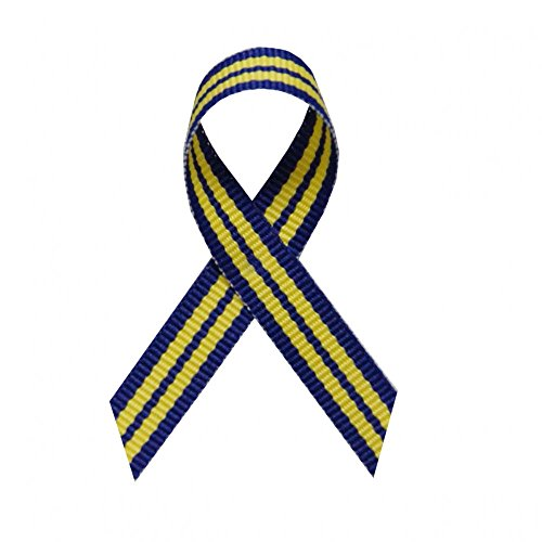 250 USA Made Human Equality Awareness Ribbons - Bag of 250 Fabric Ribbons with Safety Pins (Many Colors Available)