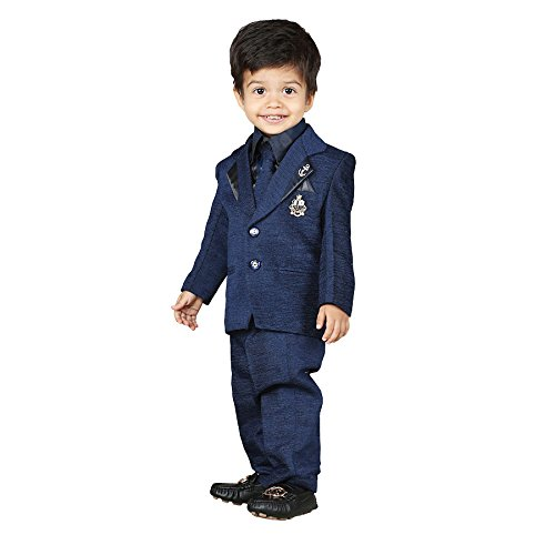 c2d596e947cc NeedyBee Baby Boy Dress 4 Pcs Formal Party Wear Coat birthdays Suit ...