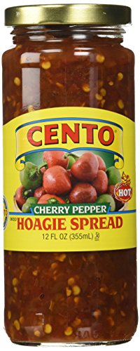 (Cento Diced Hot Cherry Pepper (Hot) Hoagie Spread - Pack of 2)