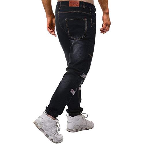Adelina Multi Jeans Cargo Pants Da Con Skinny tasca Nen Motorcycle Casual Pantaloni Fashion Retro Mehrfarbig Stretch Uomo Abbigliamento Denim aRRFxr