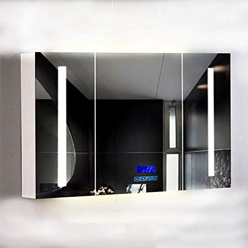 XDT Bathroom Cabinet with Mirrors Bathroom Mirror Cabinet/with Lights and Shaver Socket - Cabinet Shaver Lights And Bathroom Mirrors Socket With