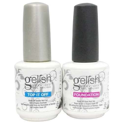 Gelish Dynamic Duo Soak Off Gel Nail Polish - Foundation Base and Top Sealer