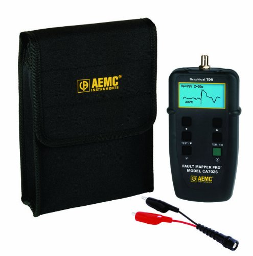 AEMC CA7026 Fault Mapper Pro Telephone Coaxial and Parallel Cable Tester with Graphical TDR (Cable Tdr Fault Finder)