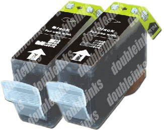 - DoublePack BCI-3eBK Black Compatible Ink Cartridges