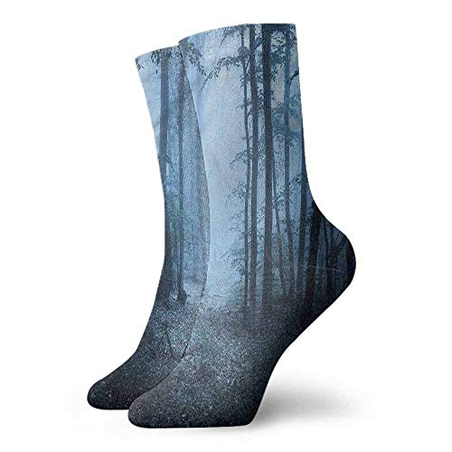 - Socks Comfort Free Shopping Forest,Mysterious Foggy Woodland 3.4