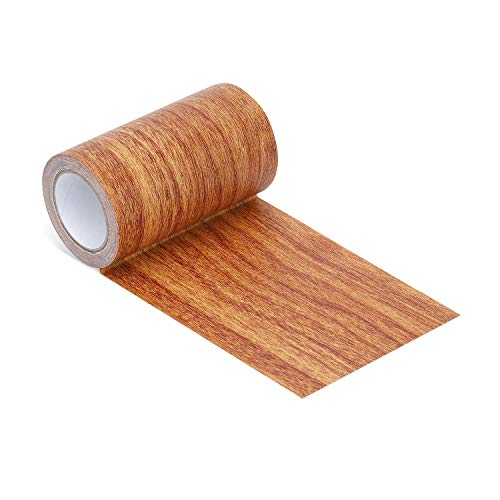 (Onine Repair Tape Patch Wood Textured Adhesive for Door Floor Table and Chair (red Oak) )