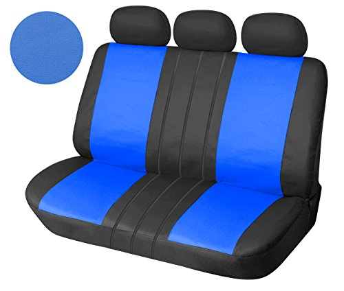 leather like vinyl semi custom car seat covers 60 40 full split universal 1559 black blue buy. Black Bedroom Furniture Sets. Home Design Ideas