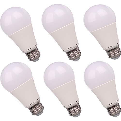 12V LED Bulb E26 7W 700Lm Low Voltage Lights AC11-18V/DC 12-24V E27 A19 lamp - 60 Watt Halogen Bulb Equivalent- 12 Volt Battery Power System Interior Off Grid Solar Lighting- 6 Pack (6000K Cool White)
