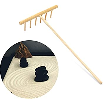 Zen Garden 6 Tines Rake Bamboo Tool Mini Art Desktop Decor Accessories 1 Pc