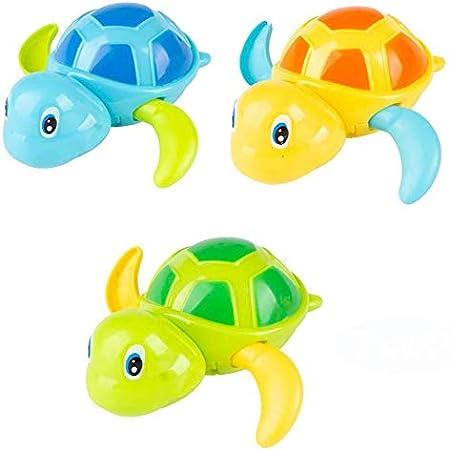 NIWWIN Juguetes clásicos de baño para bebés Tortuga mecánica para niños pequeños Niños Niñas, Juguetes de Agua para Nadar Tortuga de Piscina de Verano Baño Flotador Juguete El Mejor niño Juguete