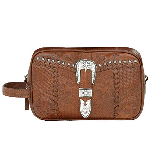 American Retro Bags - American West Retro Romance Dop Cosmetic Bag,Antique Brown,One Size