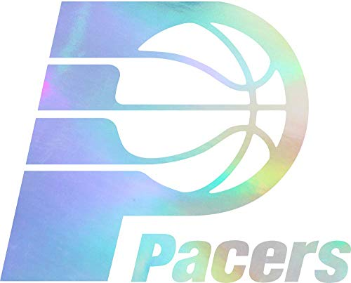 NBA IP Pacers Logo (Hologram) (Set of 2) Premium Waterproof Vinyl Decal Stickers for Laptop Phone Accessory Helmet CAR Window Bumper Mug Tuber Cup Door Wall Decoration
