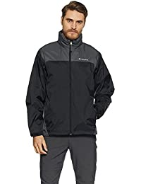 Men's Glennaker Lake Front-Zip Rain Jacket with Hideaway Hood