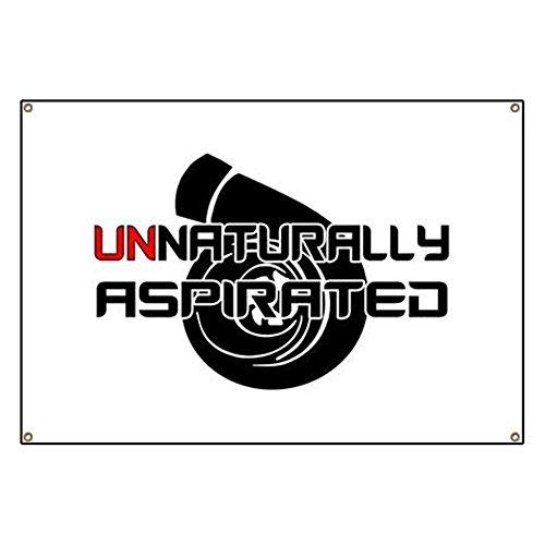 CafePress - Unnaturally Aspirated - Vinyl Banner, 44