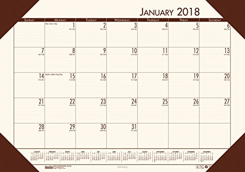 House of Doolittle 2018 Monthly Desk Pad Calendar, EcoTones, Cream Paper, 22 x 17 Inches, January - December (HOD12441-18) (Pad Monthly Ecotones Desk Calendar)