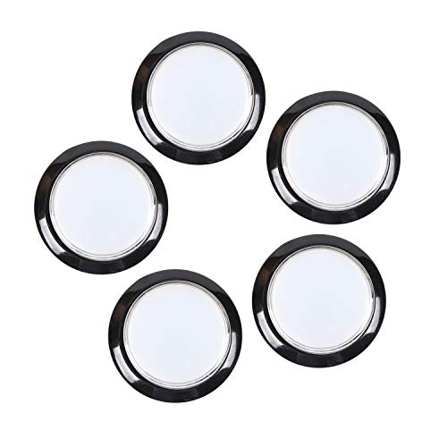 EG STARTS 5X 45mm LED Arcade Buttons Switch for Arcade Coin Operated Games Video Game Machine Parts & Accessories (5xWhite) ()