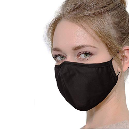 N95 Dust Mask Can Be Washed Reusable and Smoke Pollution Mask with Filter One Size Black (Black)