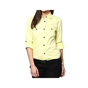 Dazzio Women's Slim Fit Cotton Formal Shirt (Please Refer Size Chart)
