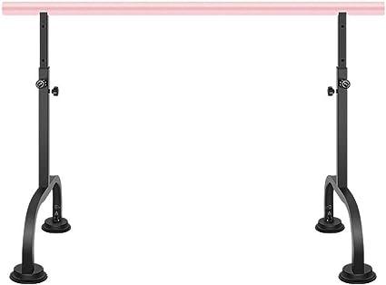 AORR Sala de Baile móvil Estudio Bar Horizontal Gimnasio Escuela Fitness Interior Piernas elevables Poste de presión Adulto Niños Ballet de Acero Barre, 1.5M: Amazon.es: Deportes y aire libre