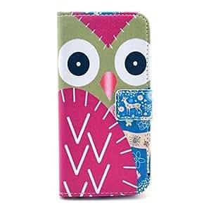 ZMY cubre ciervos búho patrón pu cuero con soporte y tarjeta de la ranura para el iPhone 6 Plus