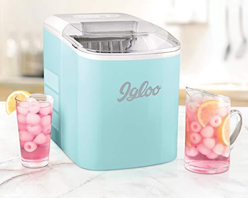 Igloo ICEB26AQ 26-Pound Automatic Portable Countertop Ice Maker Machine - Aqua
