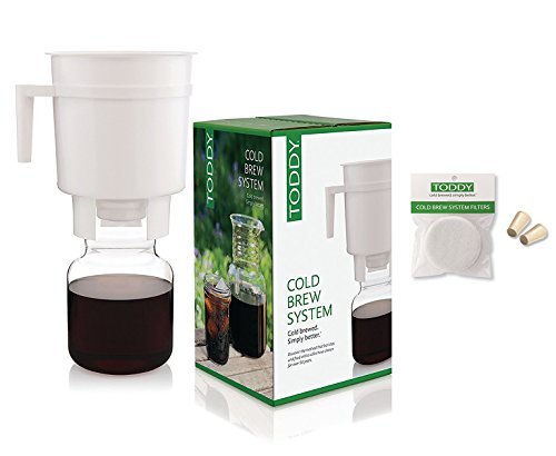 (Toddy Cold Brew Coffee Maker System with Extra Filters and Rubber Stoppers Bundle)