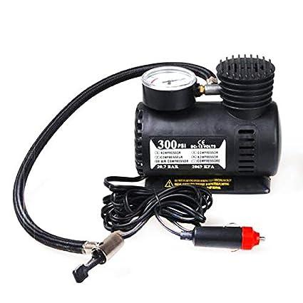 ouying1418 Black Portable 12V Auto Car Electric Air Compressor Tire Infaltor Pump 300 PSI