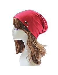 469a751d6fd7f6 Aivtalk Unisex Slouchy Beanie Hat Thin Warm Cotton Lined Skull Cap Summer  Hat Light Ring Ski Hat Baggy Cap…