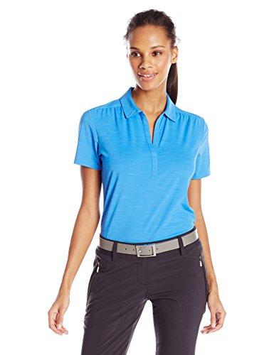 - Callaway Women's Golf Short Sleeve Tonal Stripe Polo Shirt, Palace Blue, Medium