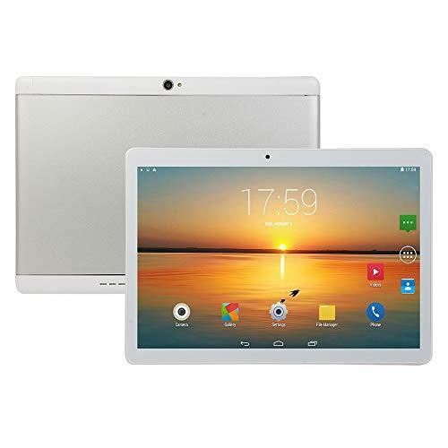 Tablette PC 10.1 Zoll HDTablet Computer PC zehn Kern Android 8.1 GPS 3G WiFi Weiß,AUplug