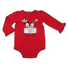 Disney Mickey & Minnie Mouse My First Valentine's Day Baby Onesie Dress Up Outfit (Newborn)