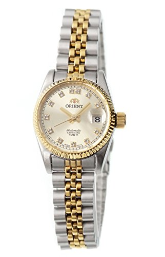 "ORIENT ""President"" Classic Automatic Sapphire Two Tone Gold Ladies Watch NR16002C"