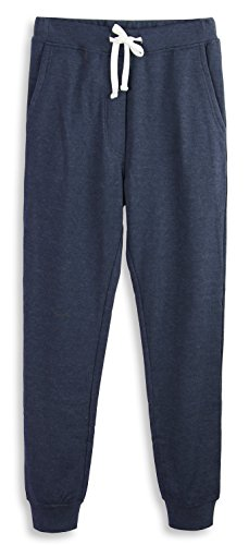 (HARBETH Men's Casual Fleece Jogger Sweatpants Cotton Active Elastic Pocket Pants Cadet Blue)