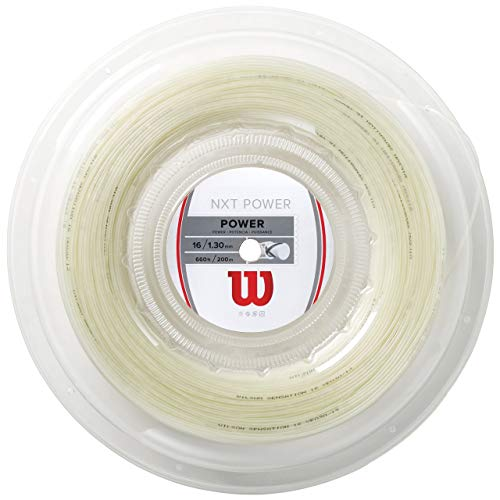 Wilson NXT Power Synthetic Gut Tennis String Reel, 16 Gauge (Natural) ()