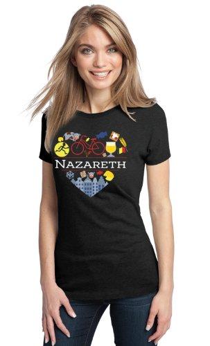 I LOVE NAZARETH, BELGIUM Ladies' T-shirt-Medium